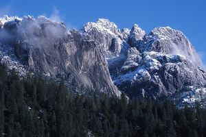 Castle Crags with a Dusting of Snow