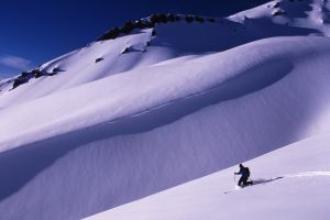 Skier, Mount Shasta, California