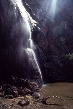 Waterfall, Tecate Hotsprings, Baja, Mexico