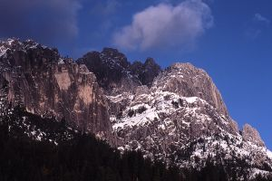 Castle Crags and Clearing Storm, California