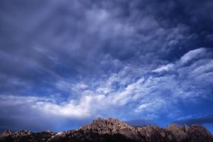 Castle Crags with Clouds