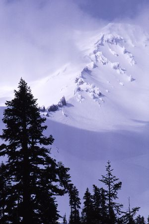 Mount Shasta and Casaval Ridge in Winter
