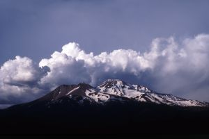 Mount Shasta and Summer Clouds