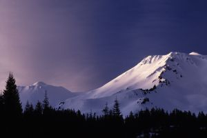Mount Shasta Reflects the Day's Last Light